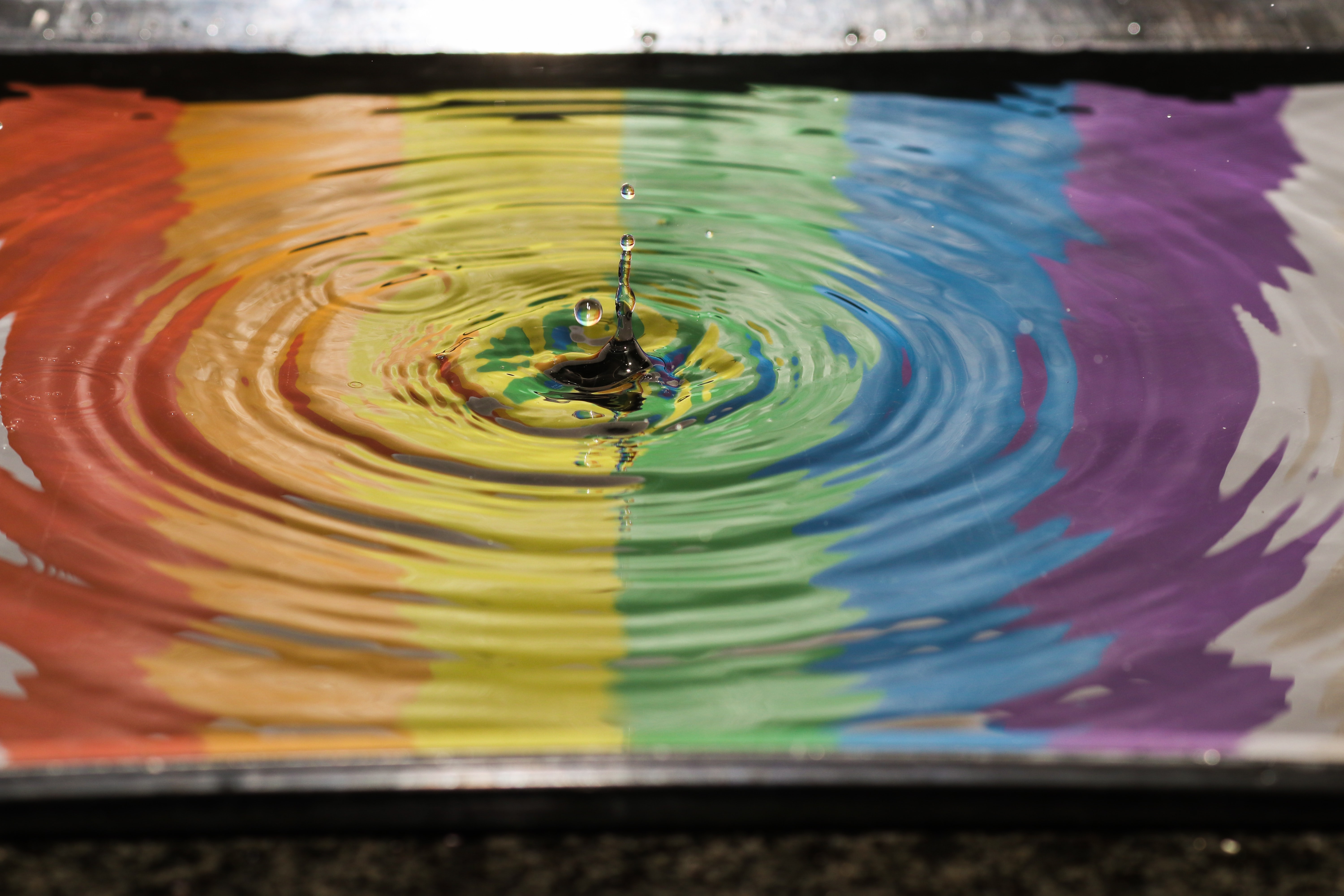 time lapse photography of water ripple