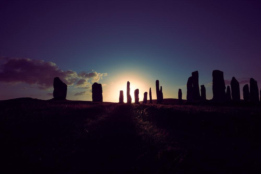 Stonehenge under blue sky