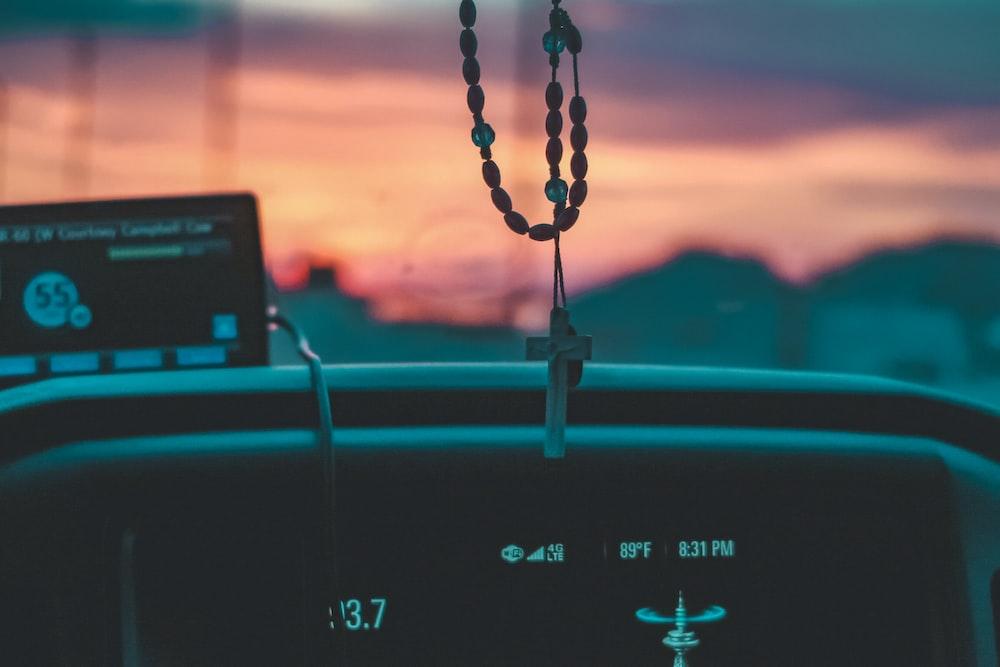 turned on vehicle stereo