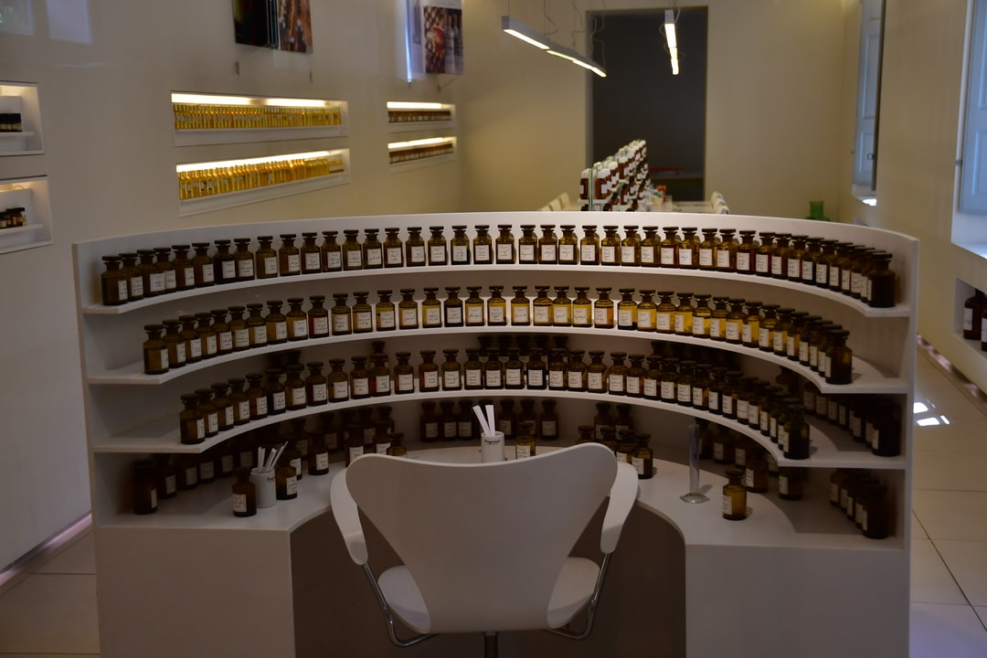 """visit of a perfume factory in france in grasse. like wine a """"melange"""" is made to accomplish a specific bouquet c'est l'orgue du parfumeur"""