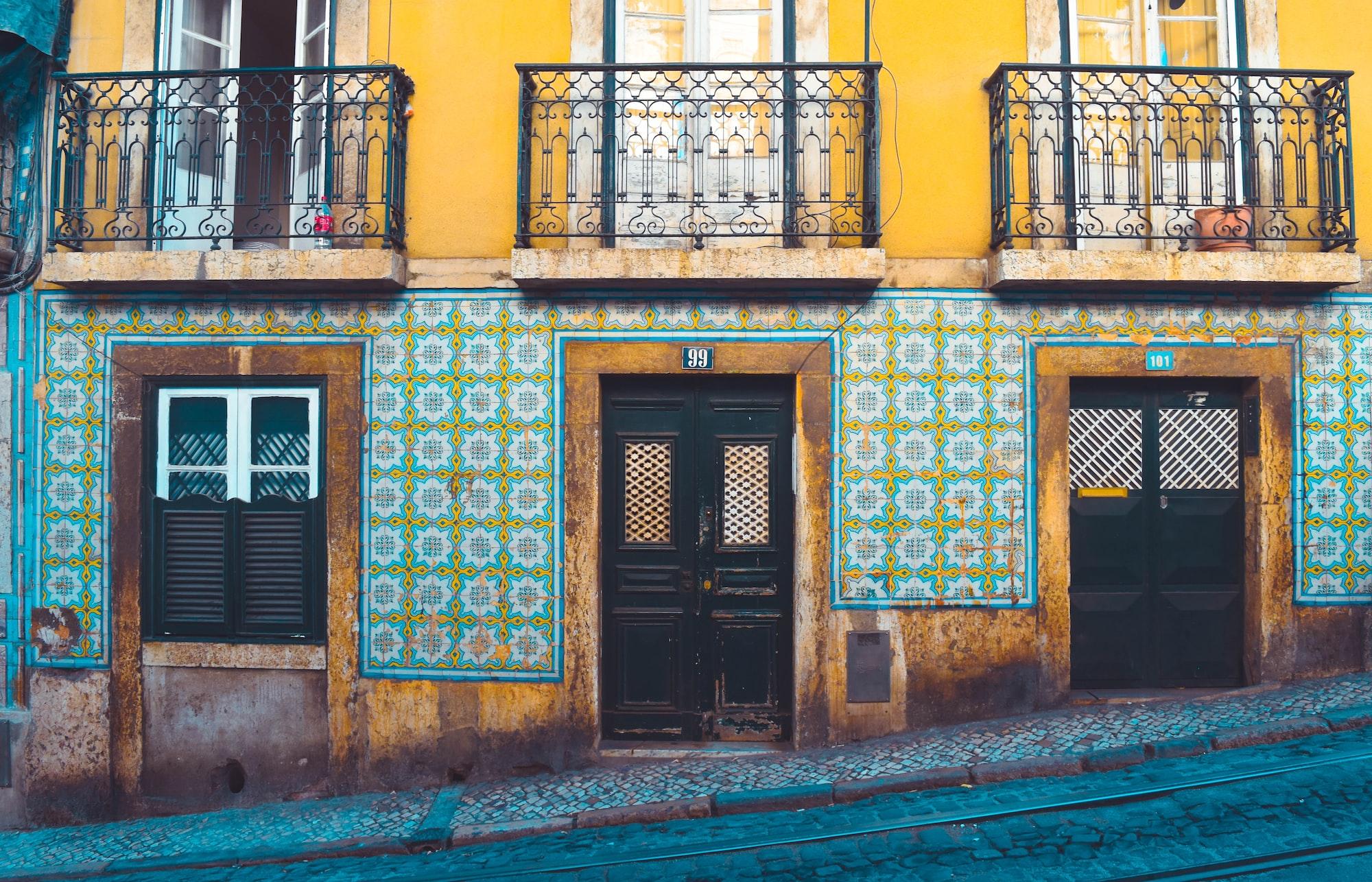 Walking around in Lisbon.