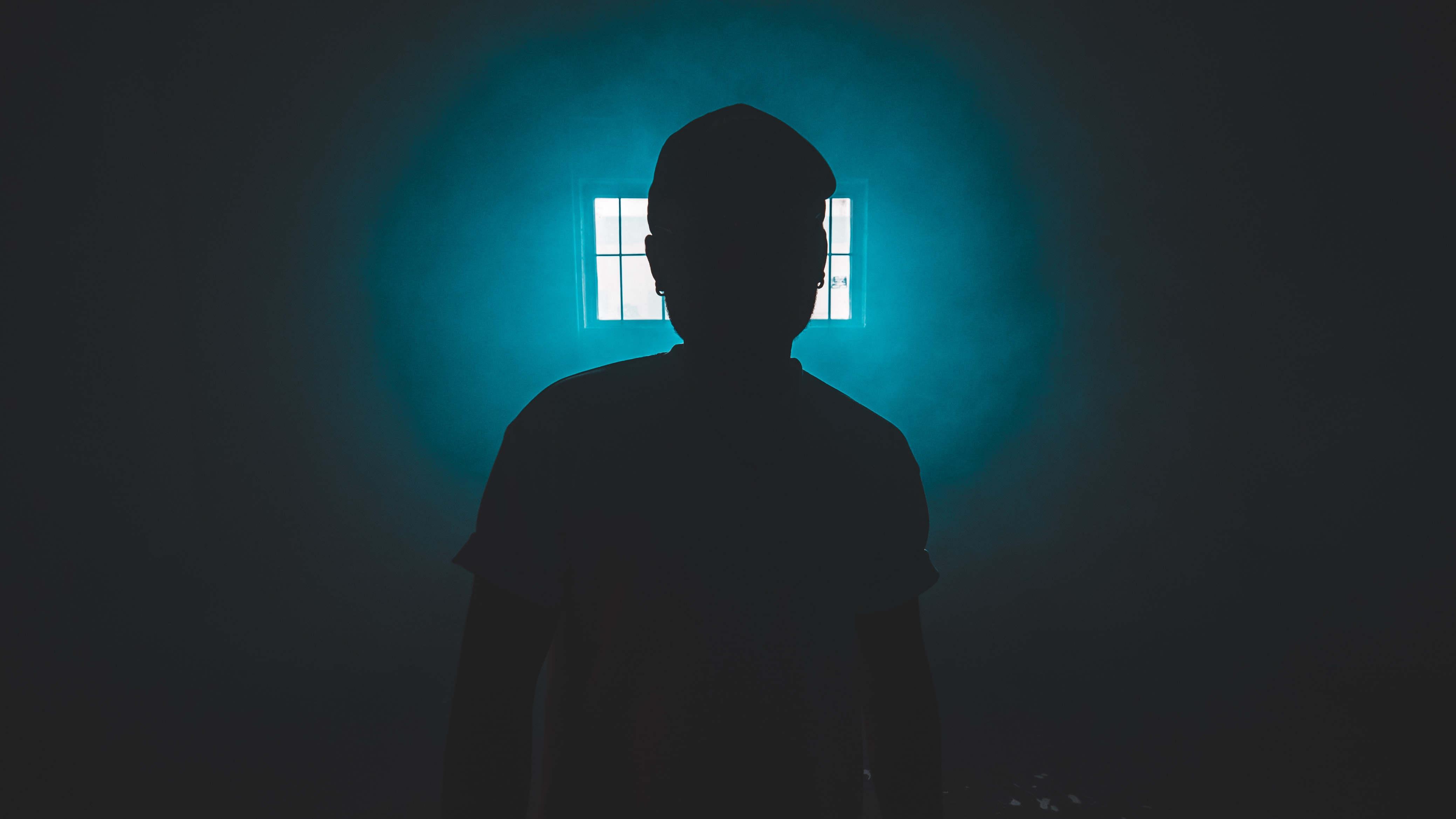silhouette of standing person