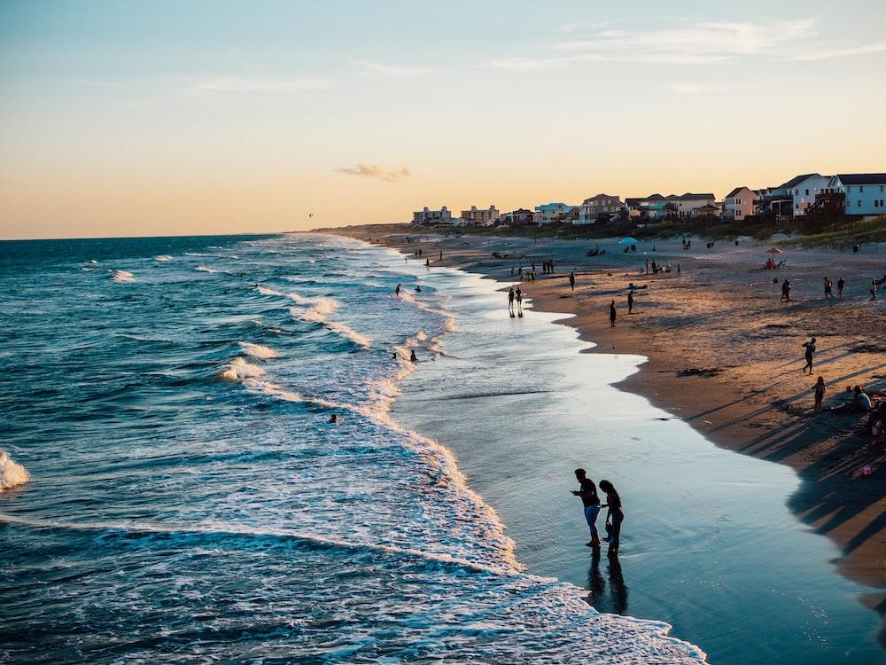 People On Beach Emerald Isle