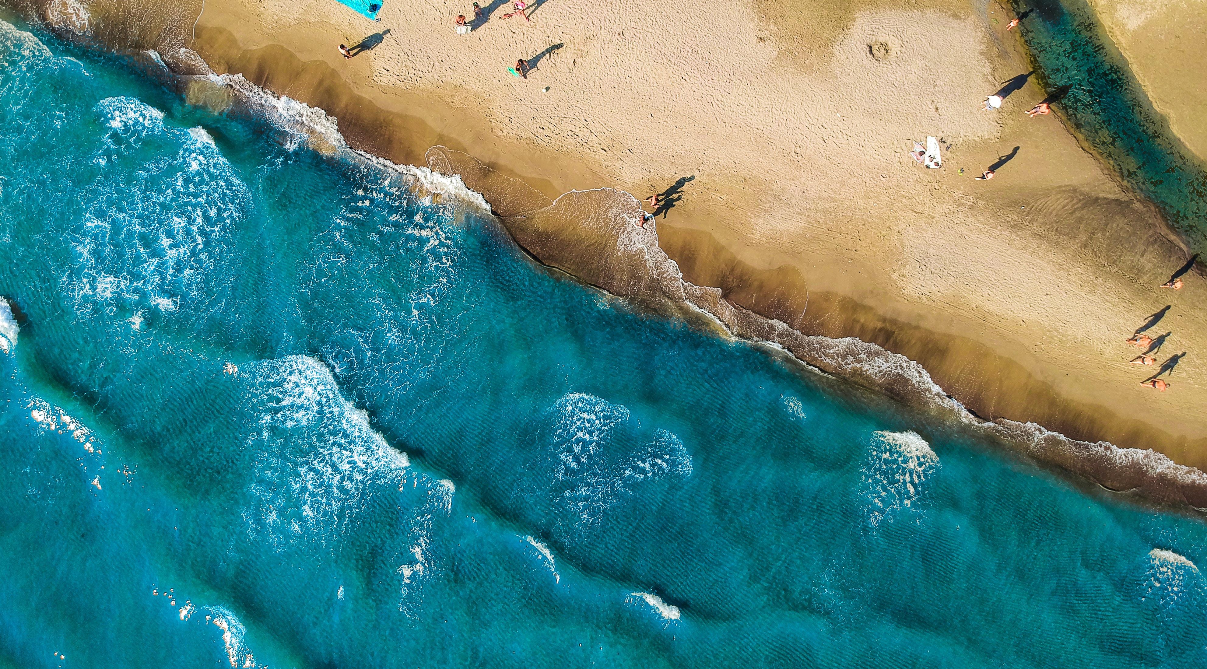 aerial shot photo of beach