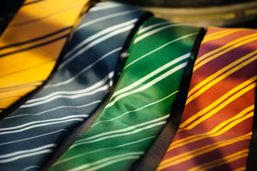 assorted-color neckties
