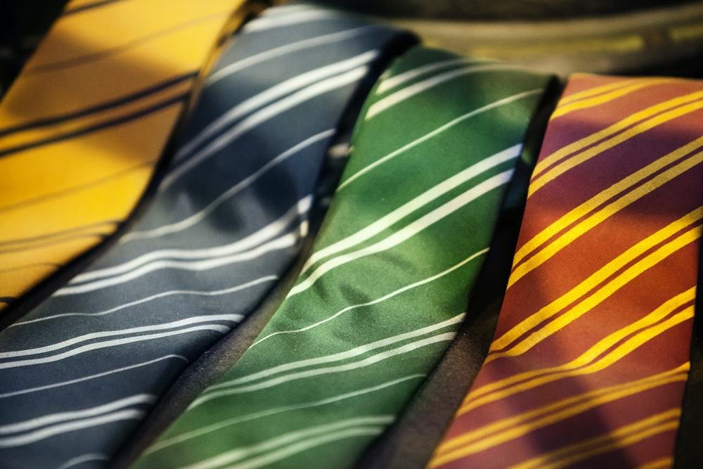assorted-color neckties