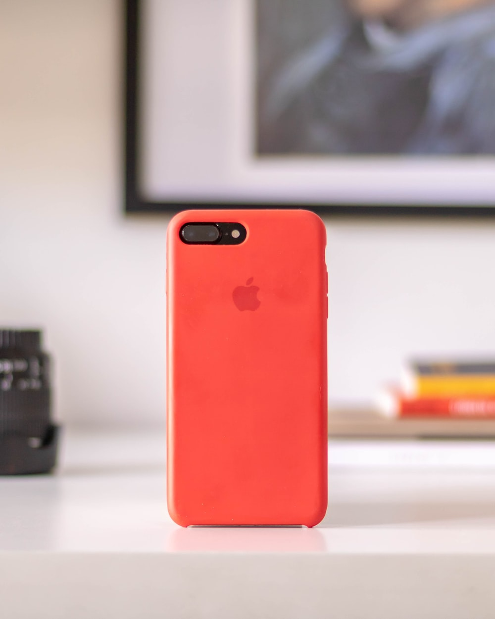 post-2016 iPhone with red case