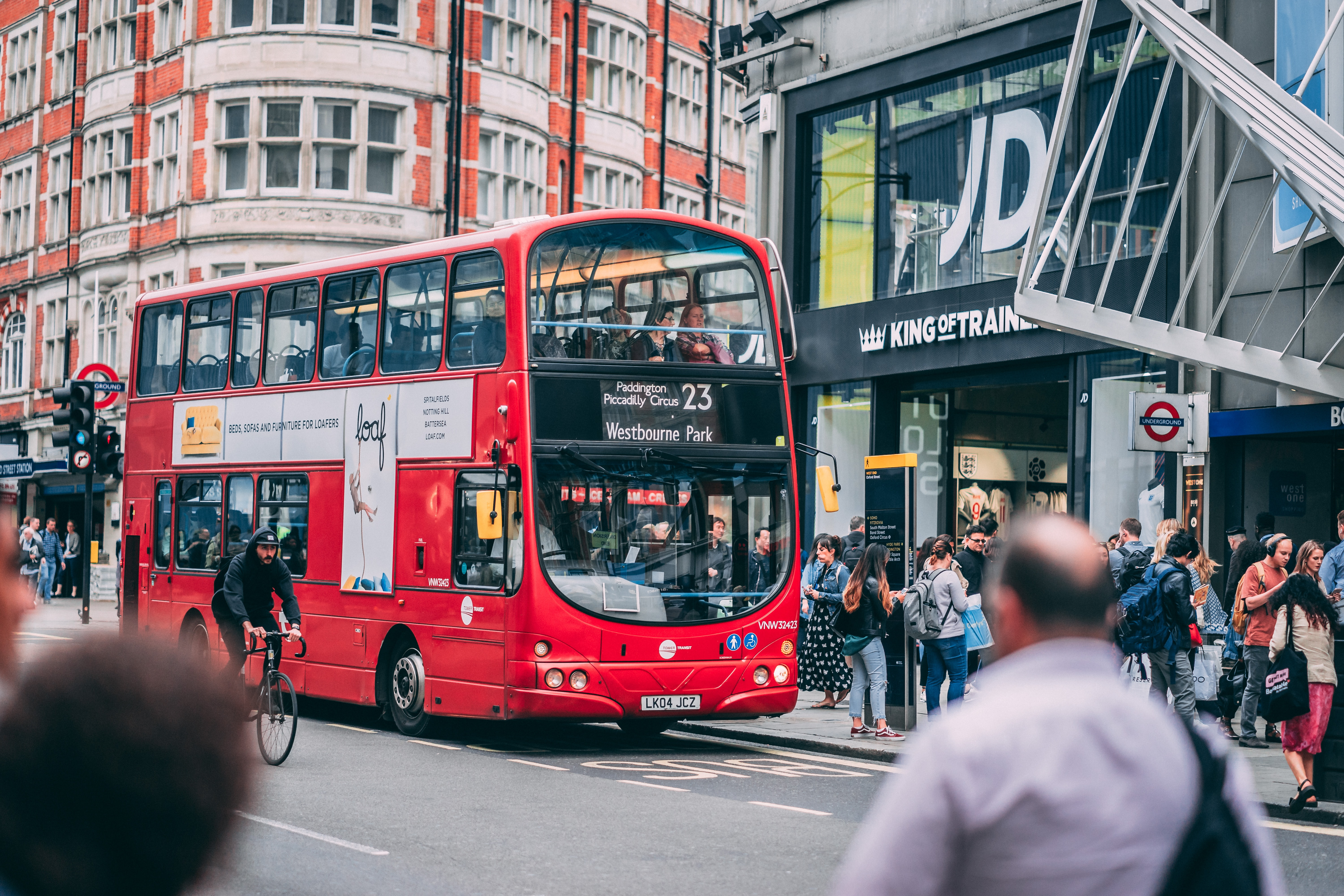 red double-decker bus