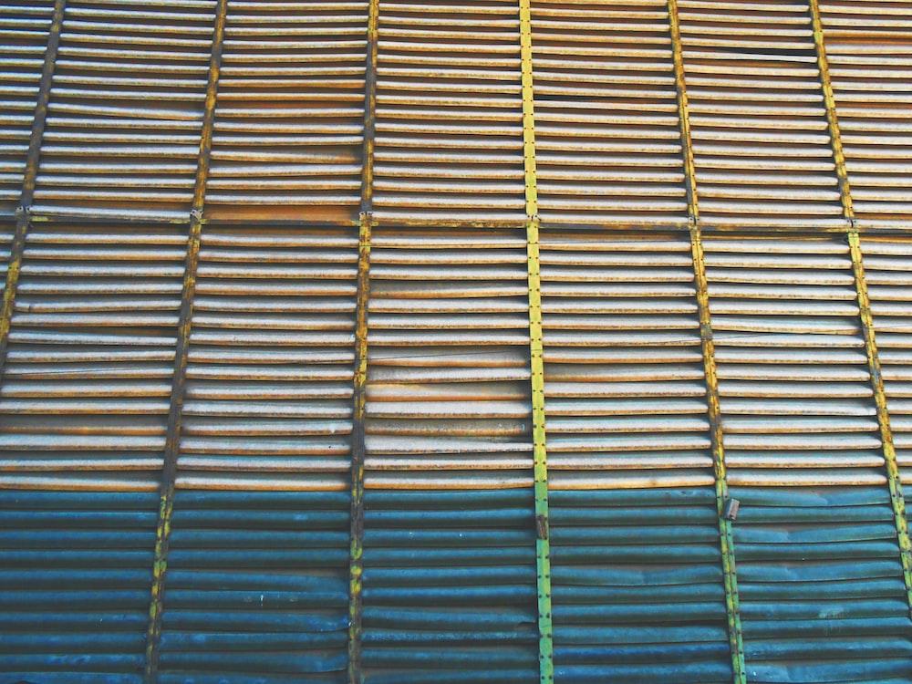 focus photo of steel window
