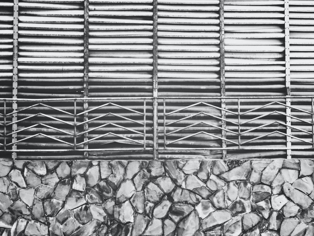 metal frames grayscale photography