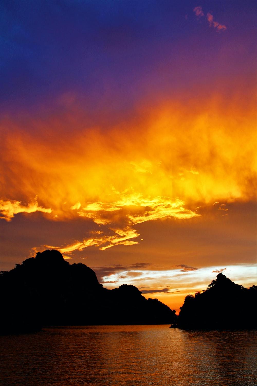 calm seas during golden hour