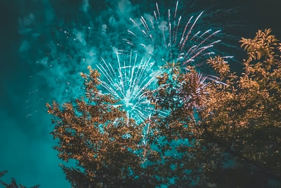 time lapse photography of fireworks independence day teams background