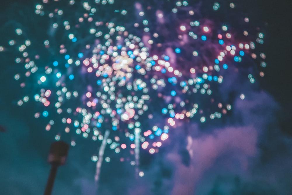 assorted-color firework display