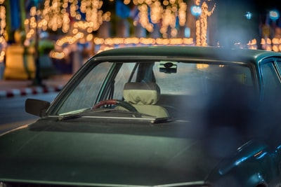 Car with Golden and Yellow bokeh