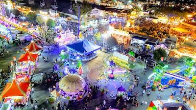 orange county fair at night