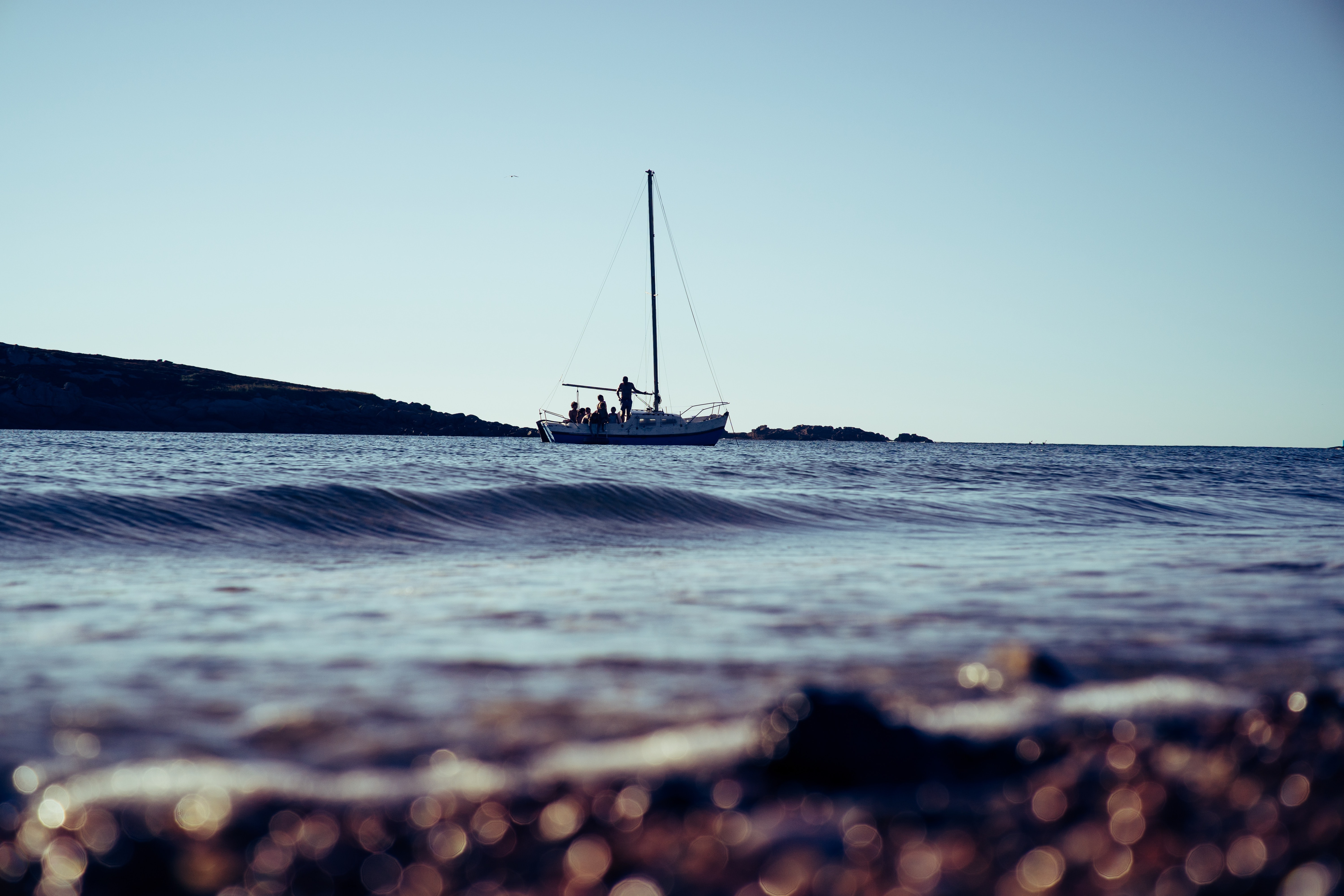 shallow focus photo of boat