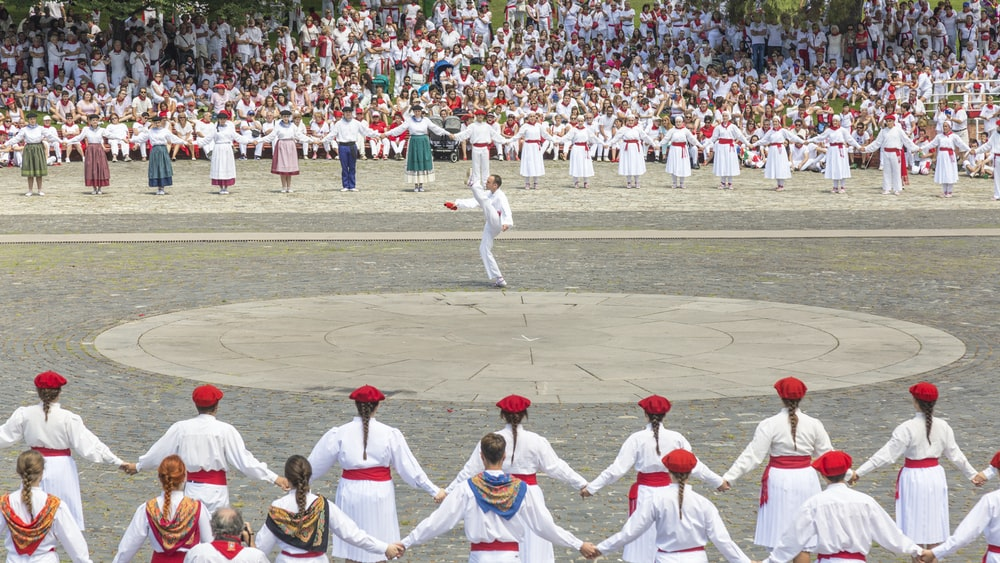 People gathered to see dance in Spain