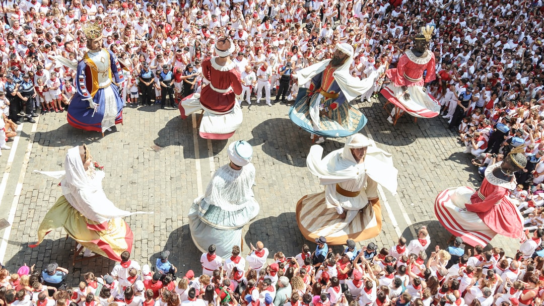 Final dance at the city hall in San Fermin