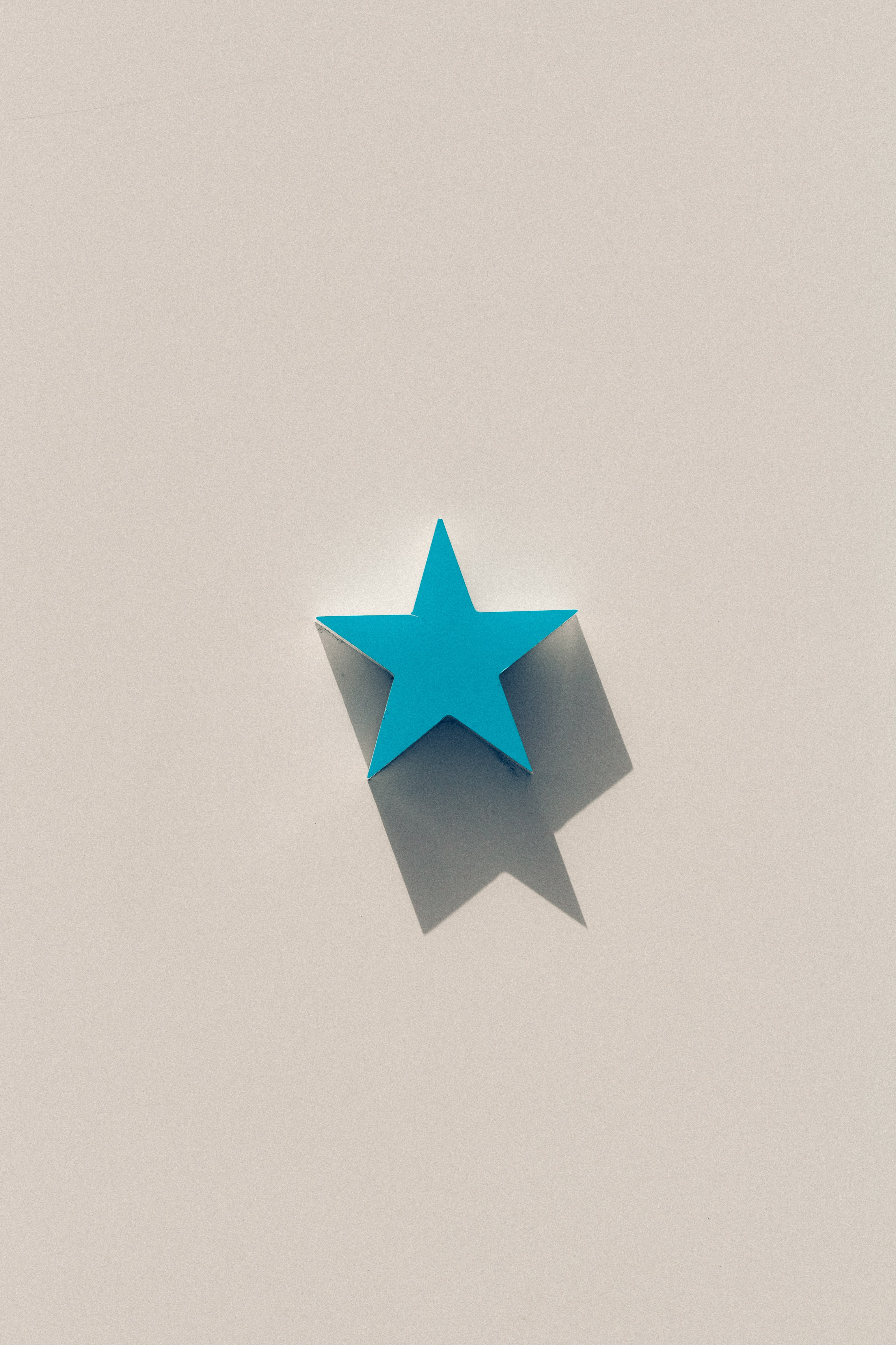 blue star illustration with white background
