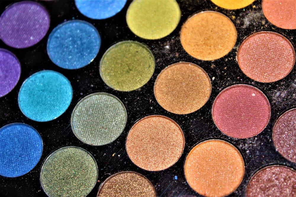 macro photograph of eyeshadow palette