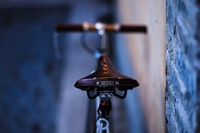 black and gray Brooks bicycle