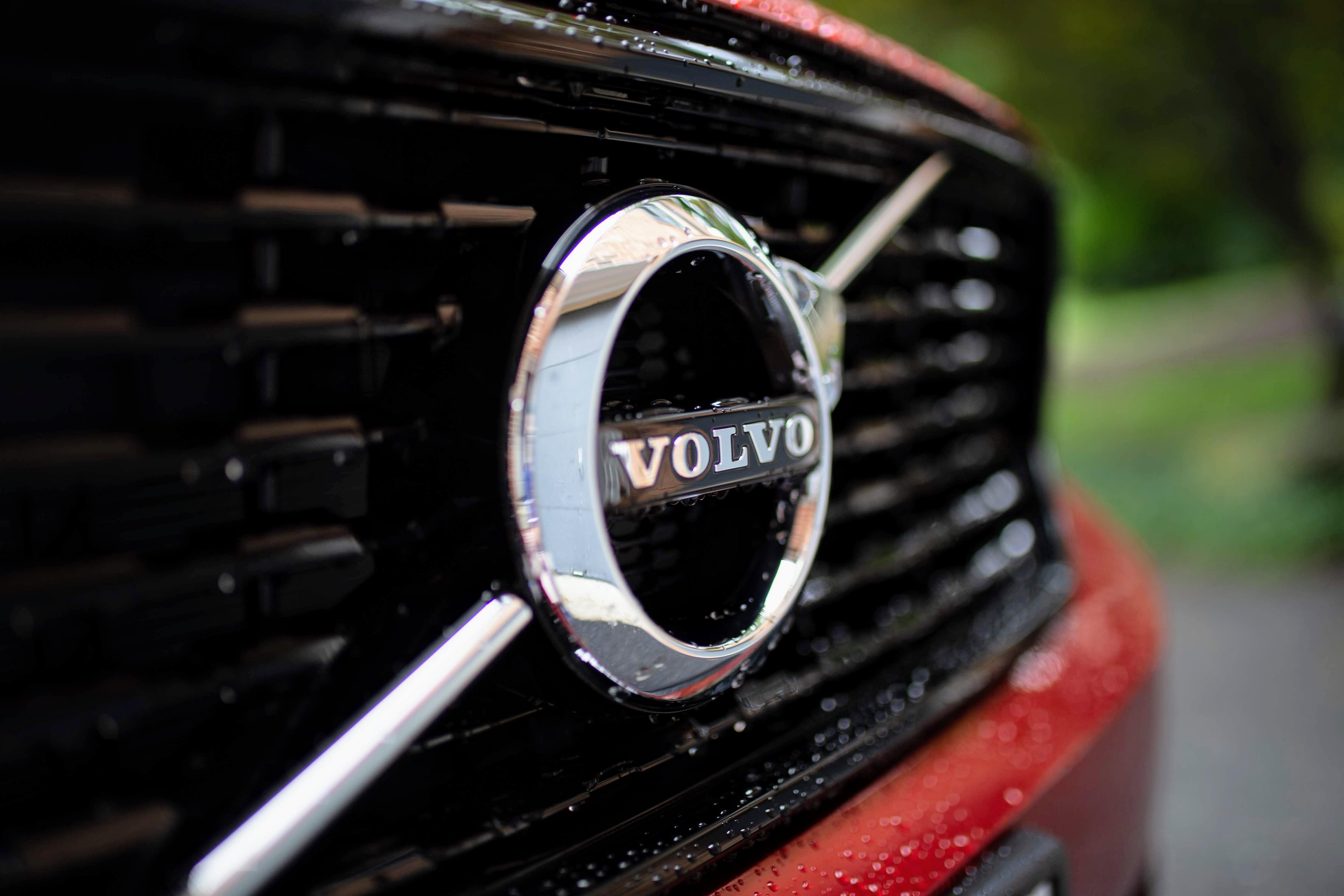 chrome Volvo emblem