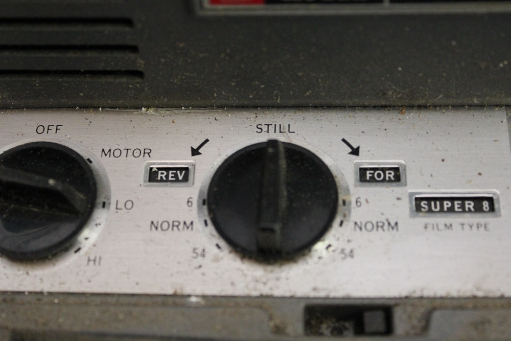 appliance control button at still and lo