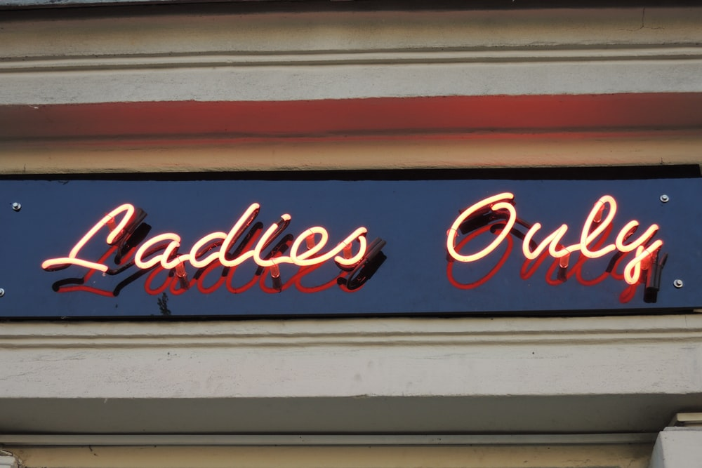 Ladies Only neon light signage