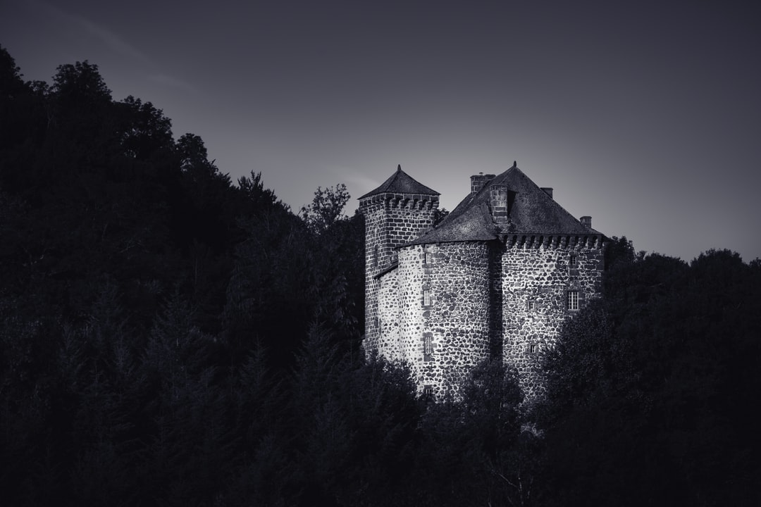 This is the Rochebrune Castle, in Cantal France. This is a medieval strong castle restored in the seventies. I woke up early to shoot it in the morning light. I love the way it seems lost in the forest, impregnable. I gave this photo to the kind family that takes care of the castle and gave me a nice visit, they where so excited to know a photograph was interested in their castle.