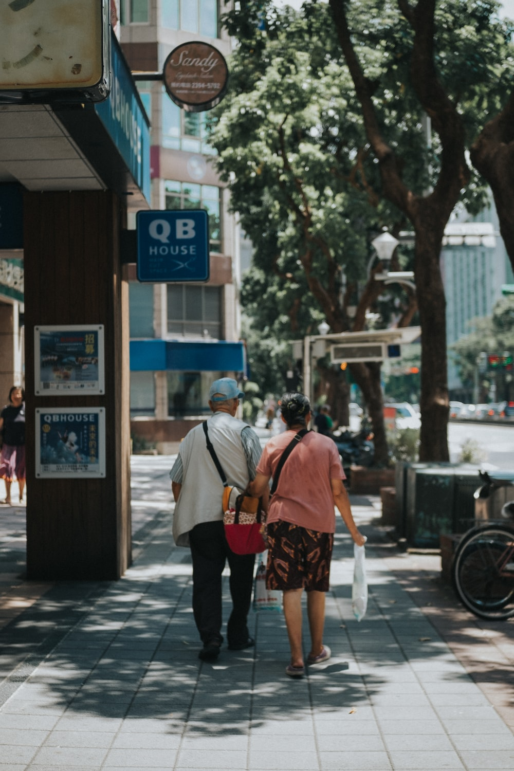 couple walking on alley