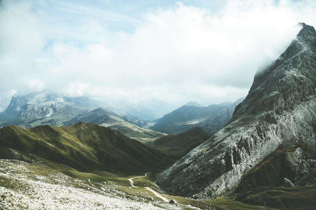 The Dolomites – Hiking Peak – Top View From Denti di Terrarossa