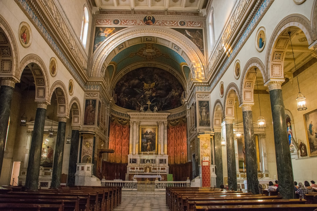 Interior of the catholic church in Athens.