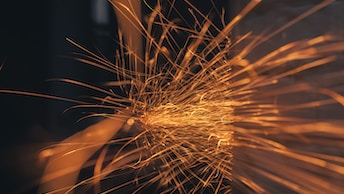 time lapse photography of sparkles