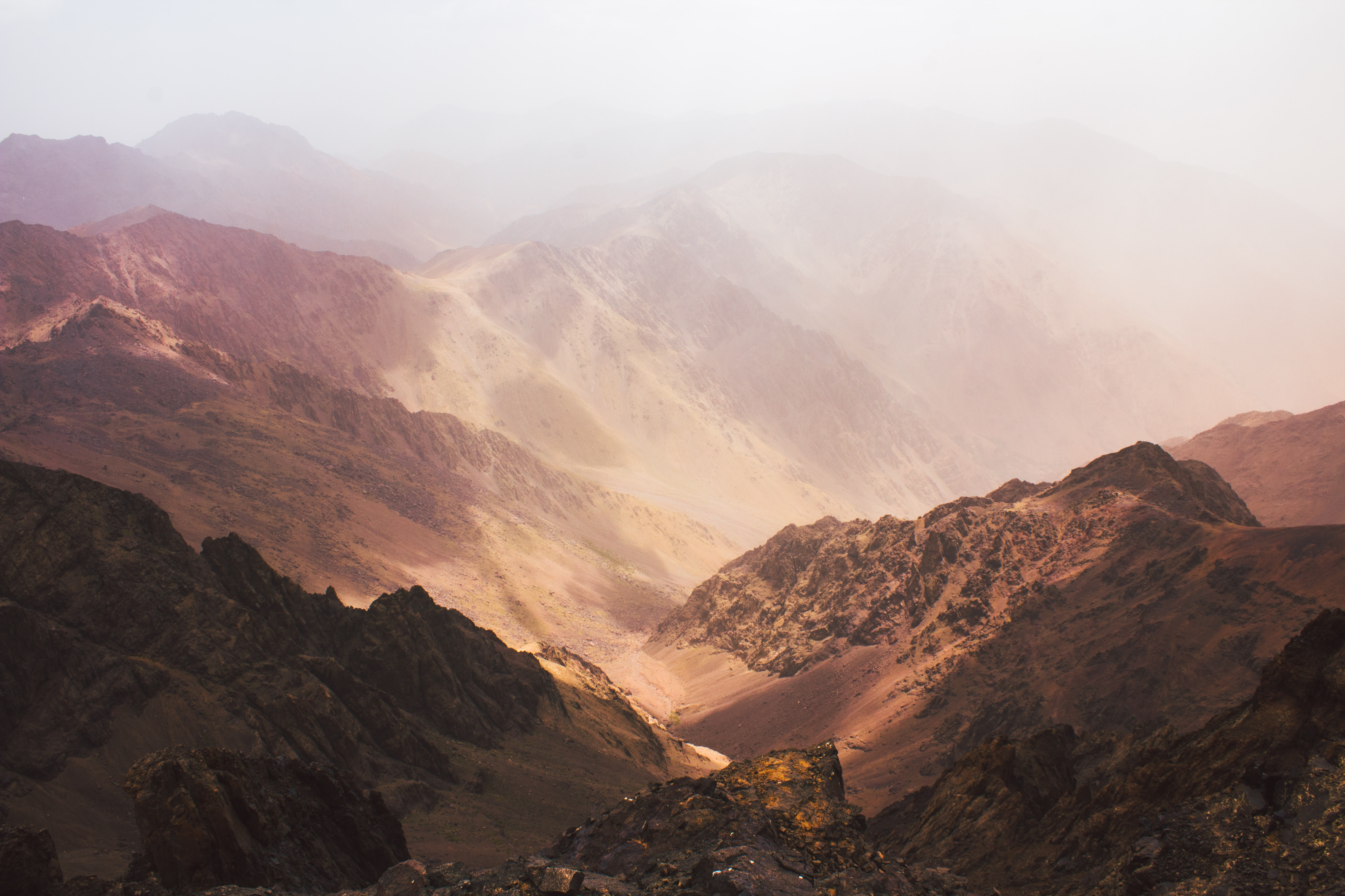 photo of brown mountains