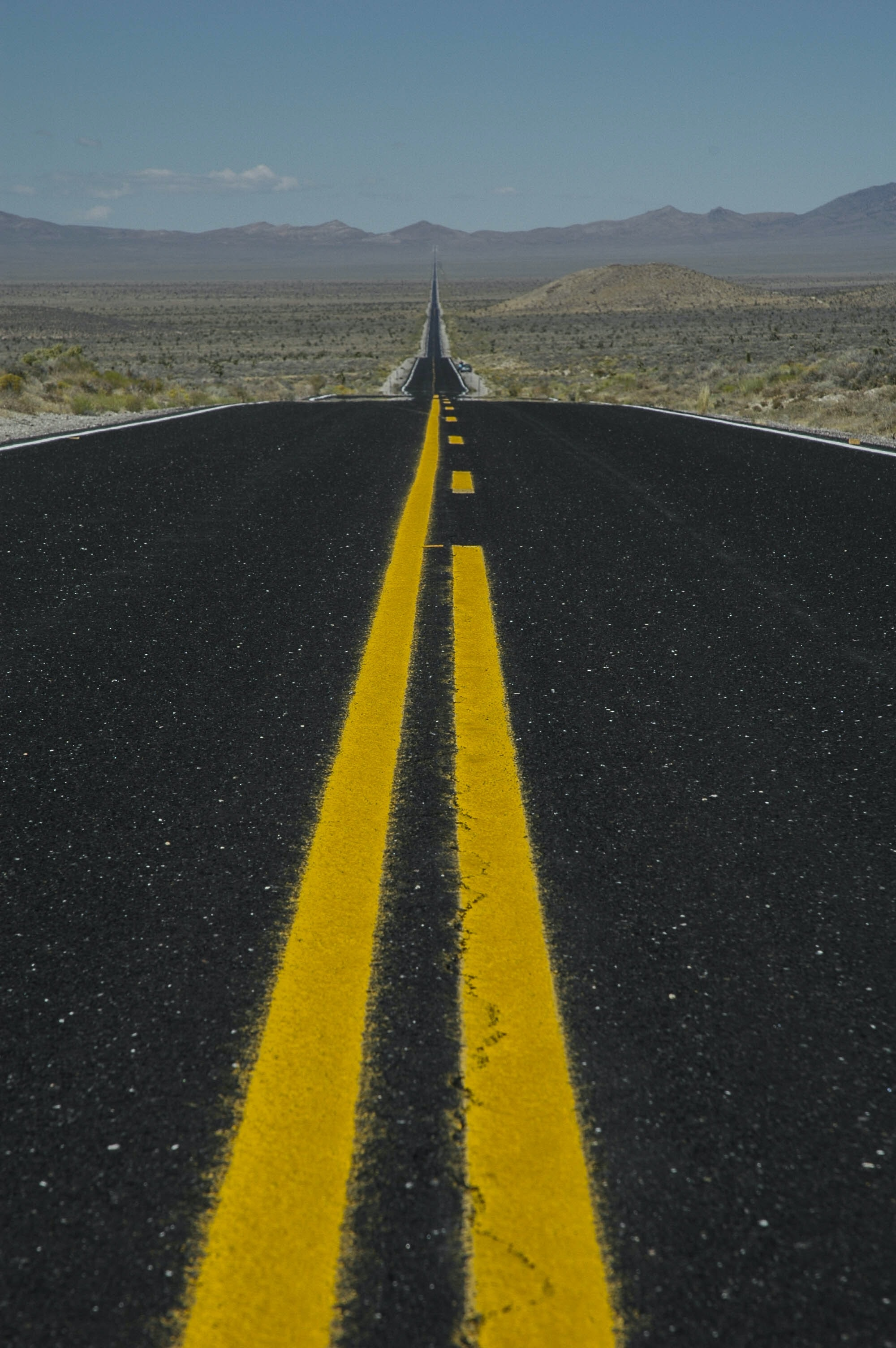 black and yellow empty road