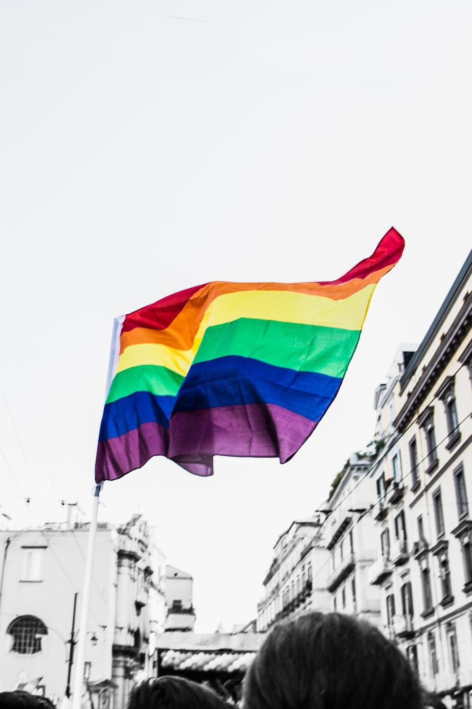 selective photo of flag