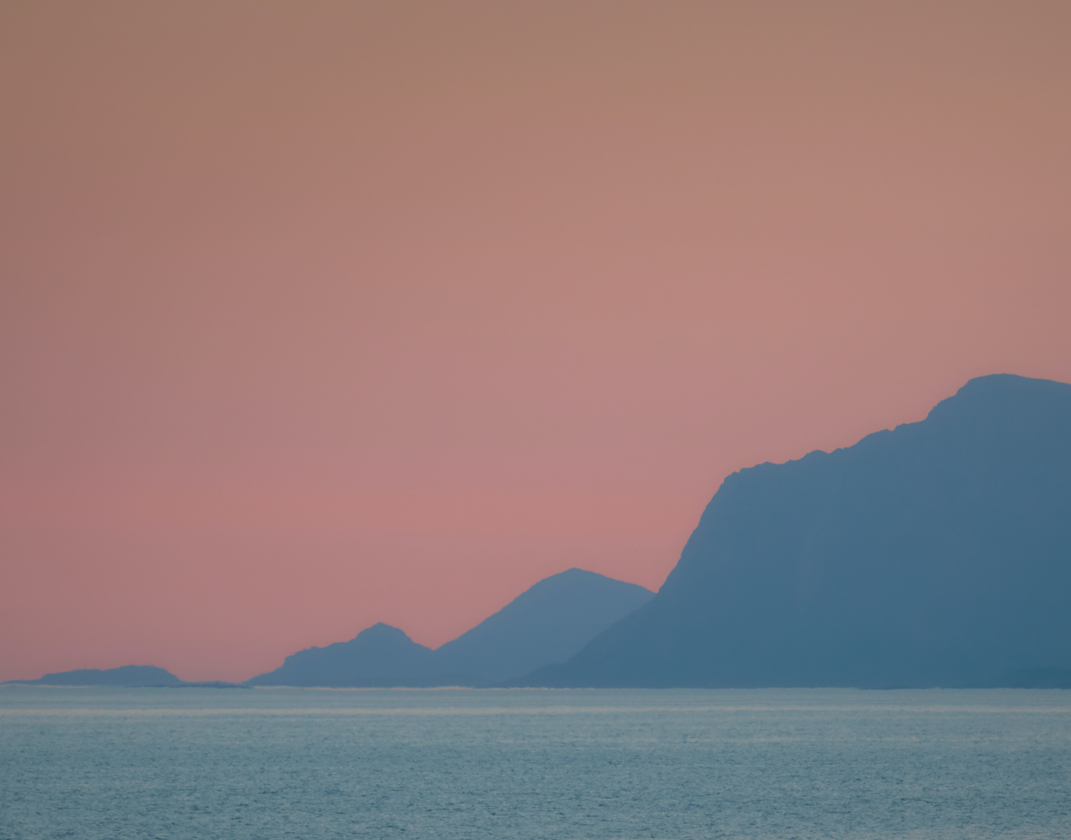 silhouette of mountain range in landscape photography