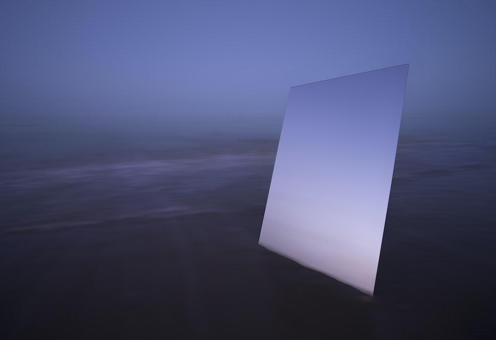 rectangular white screen