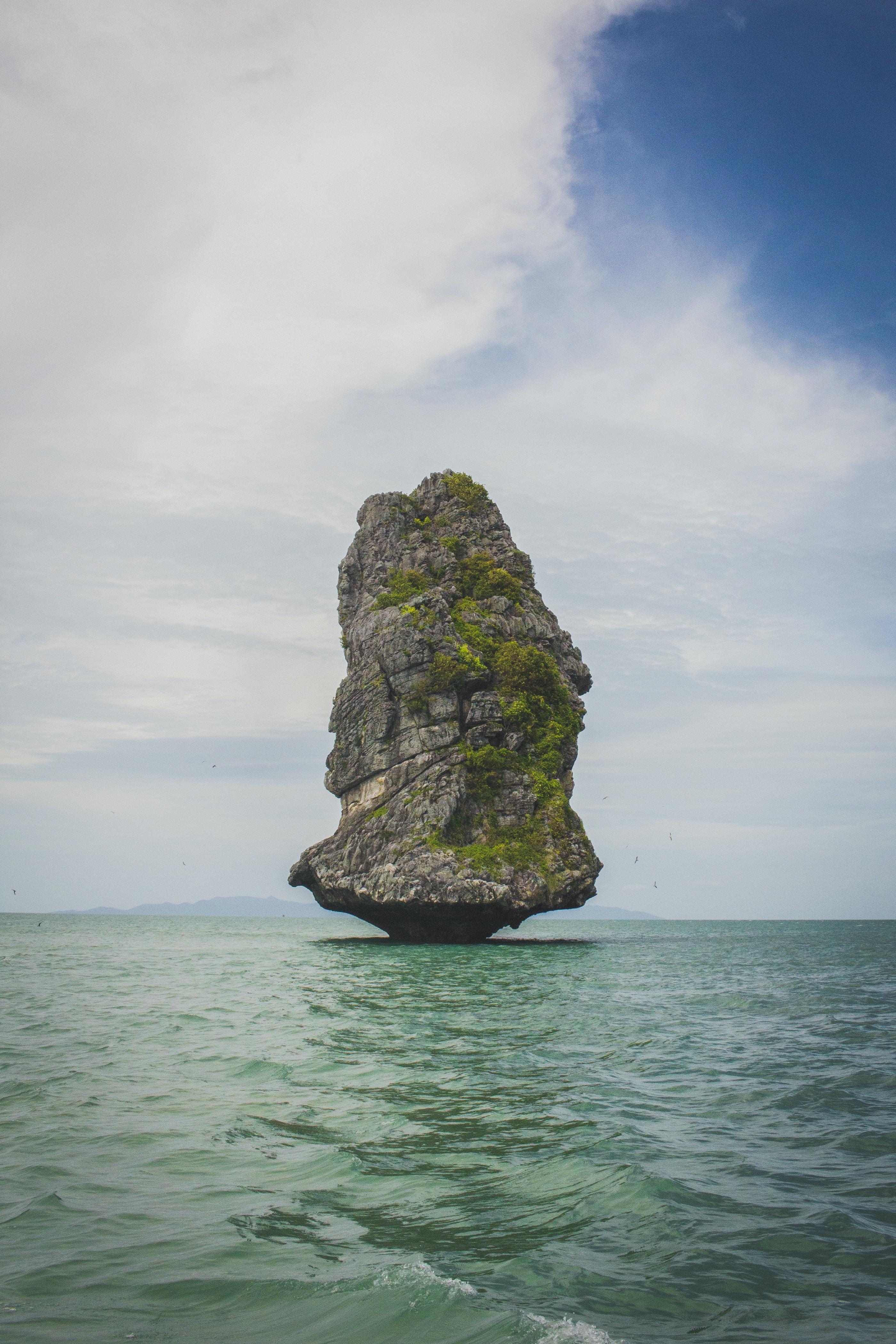 rock island on sea