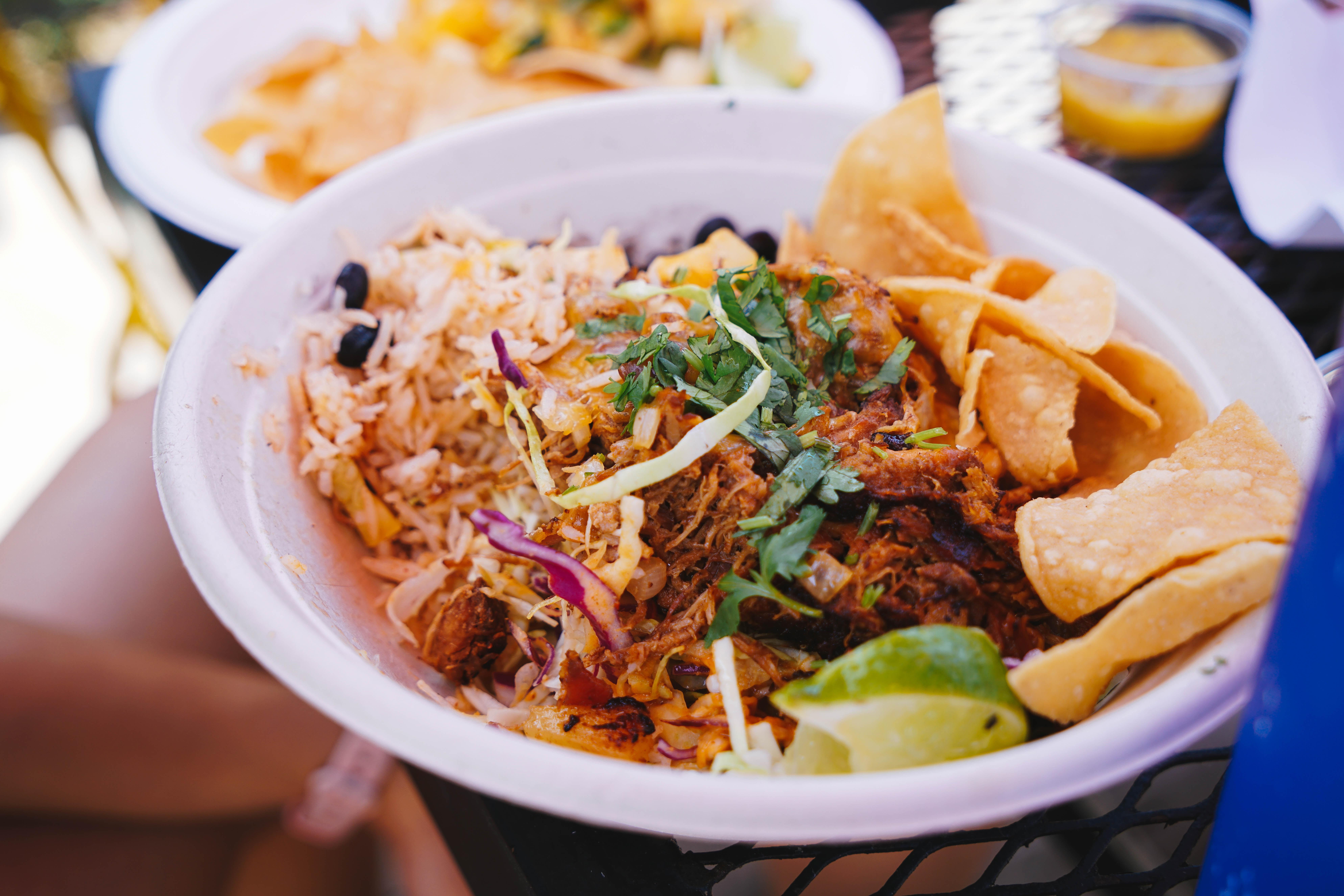 nachos filled bowl