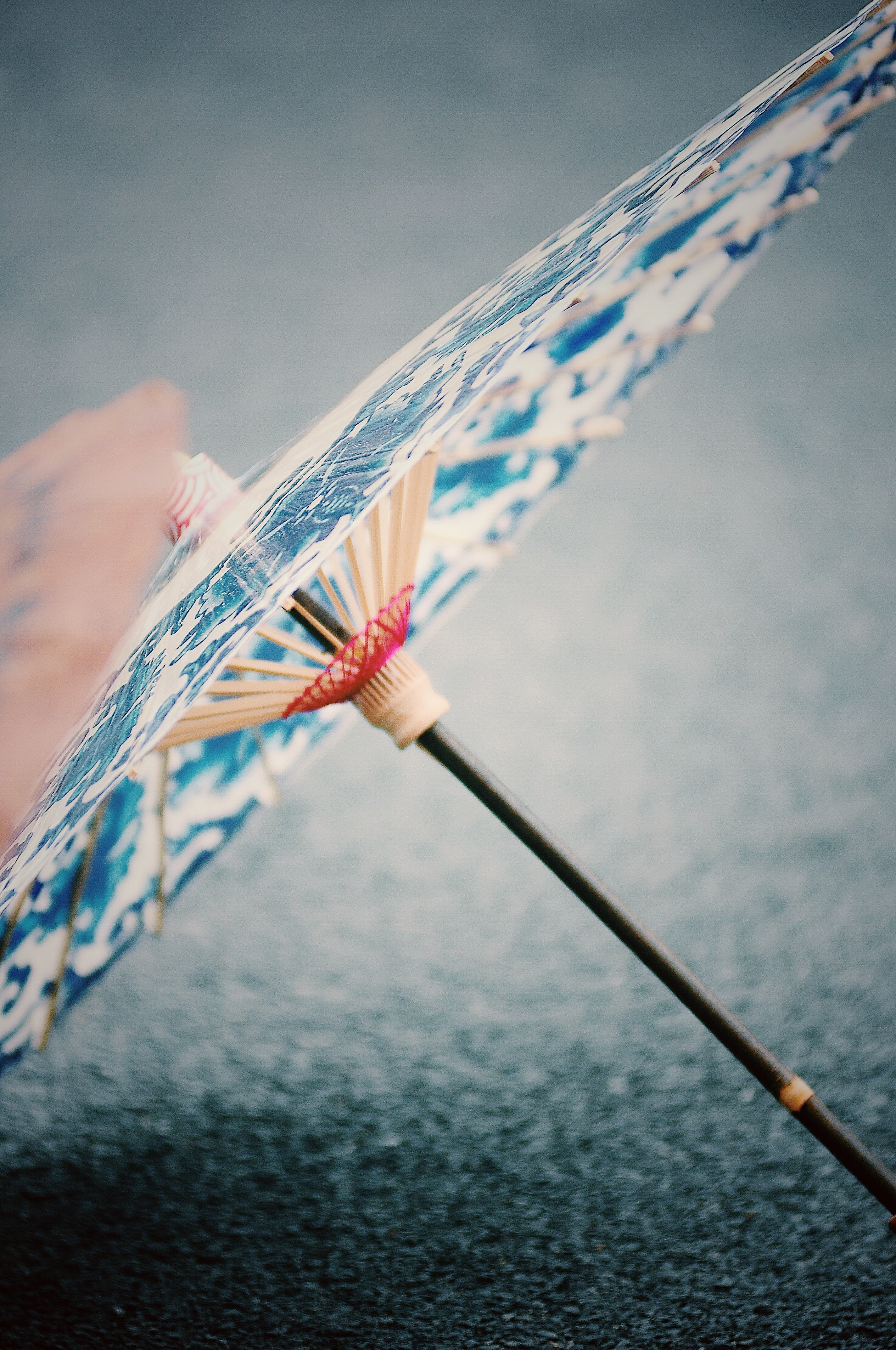 shallow focus photo of paper umbrella
