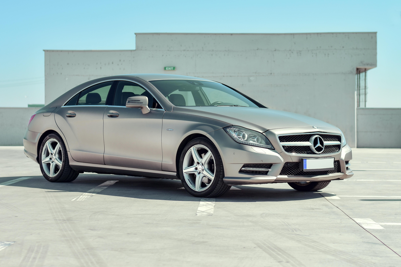 silver Mercedes-Benz sedan