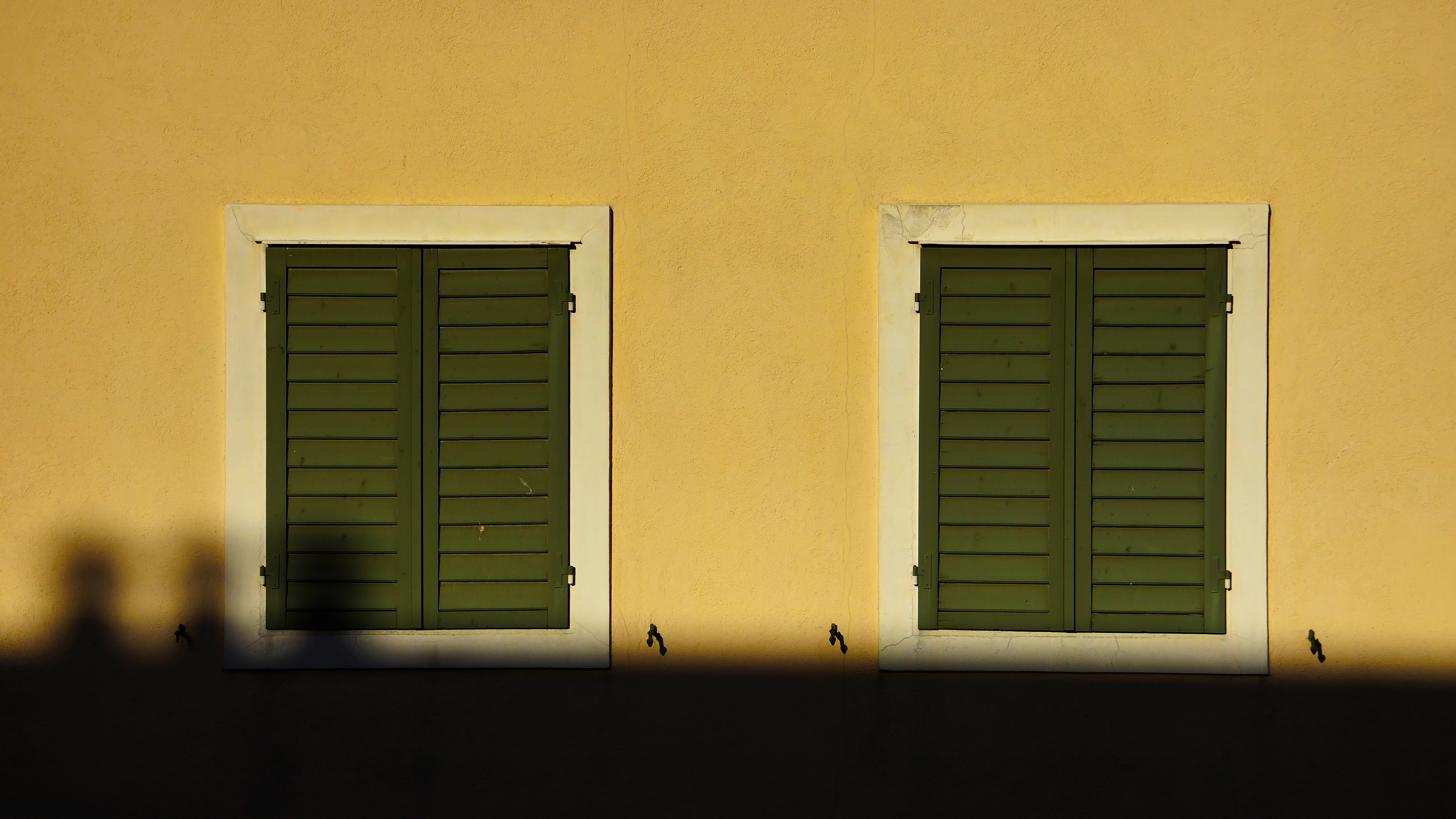 wall with two windows