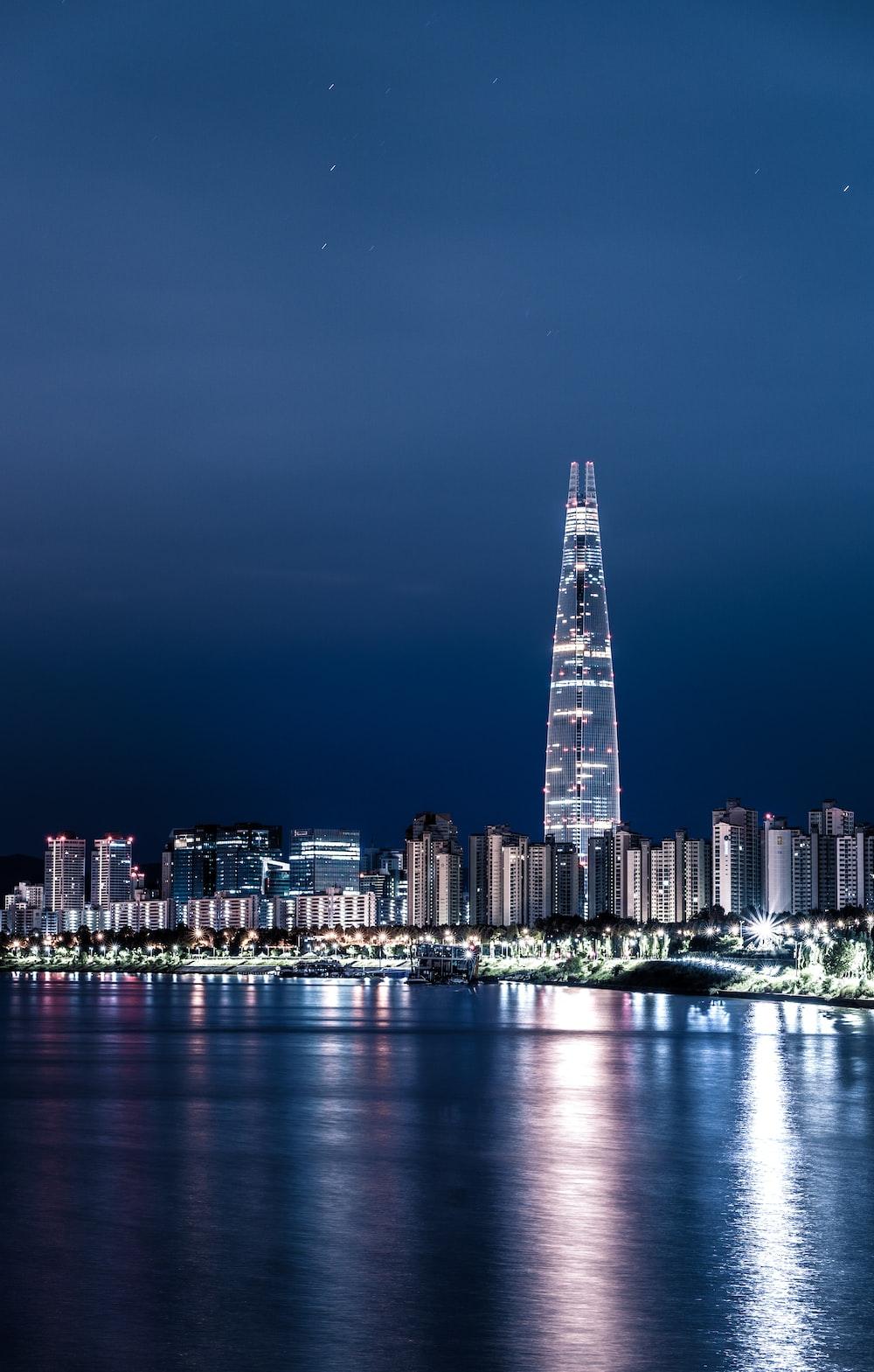 cityscape photography of city skyline