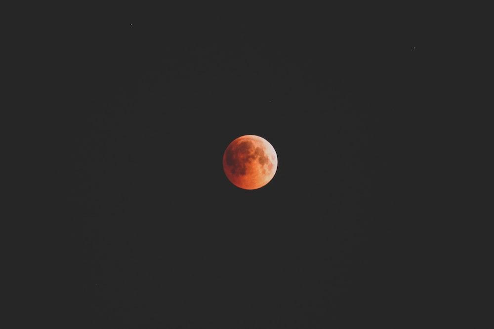 red moon illustration