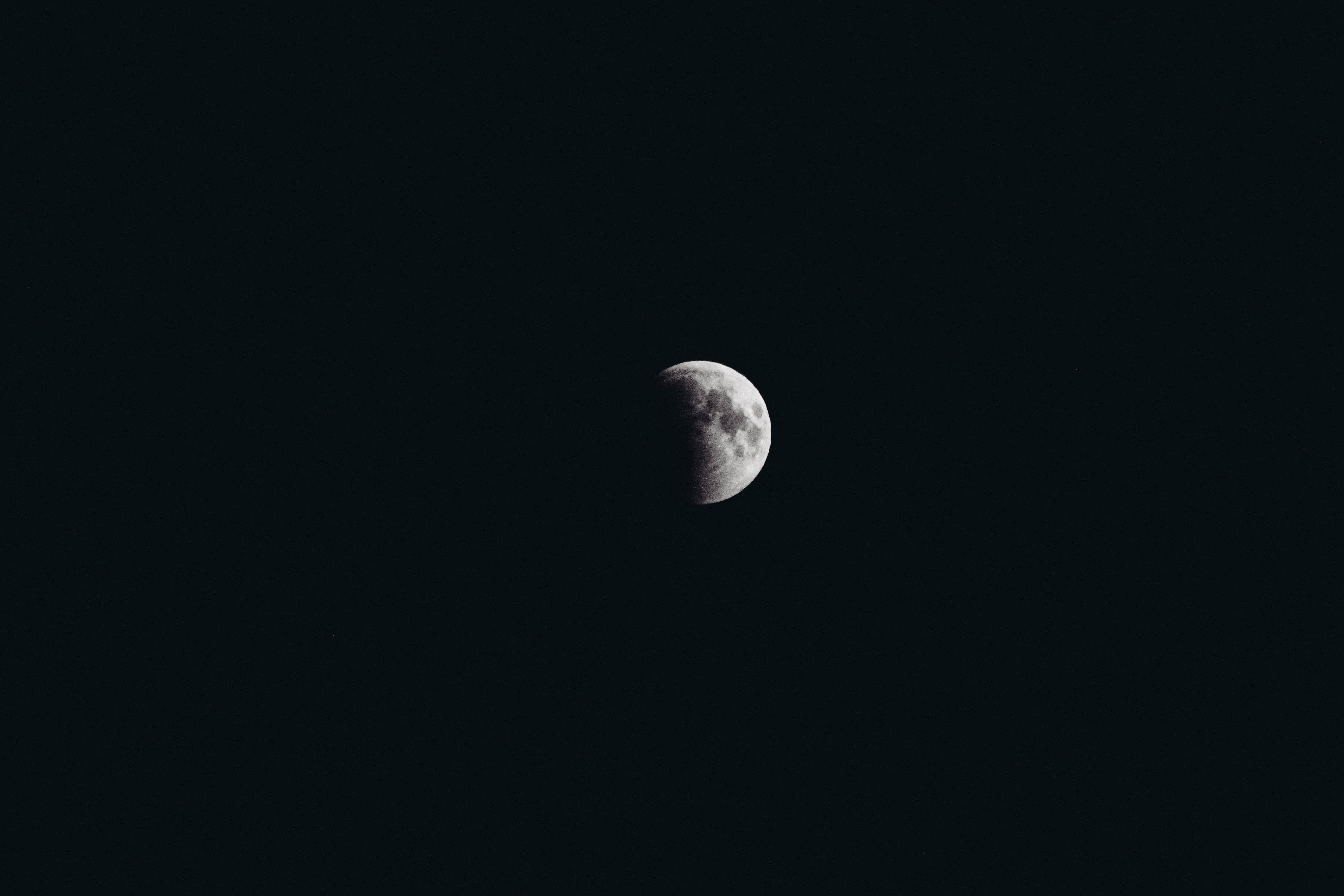 white moon at nighttime