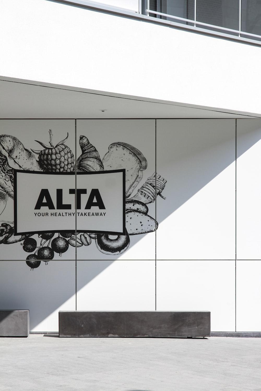Alta wall sign