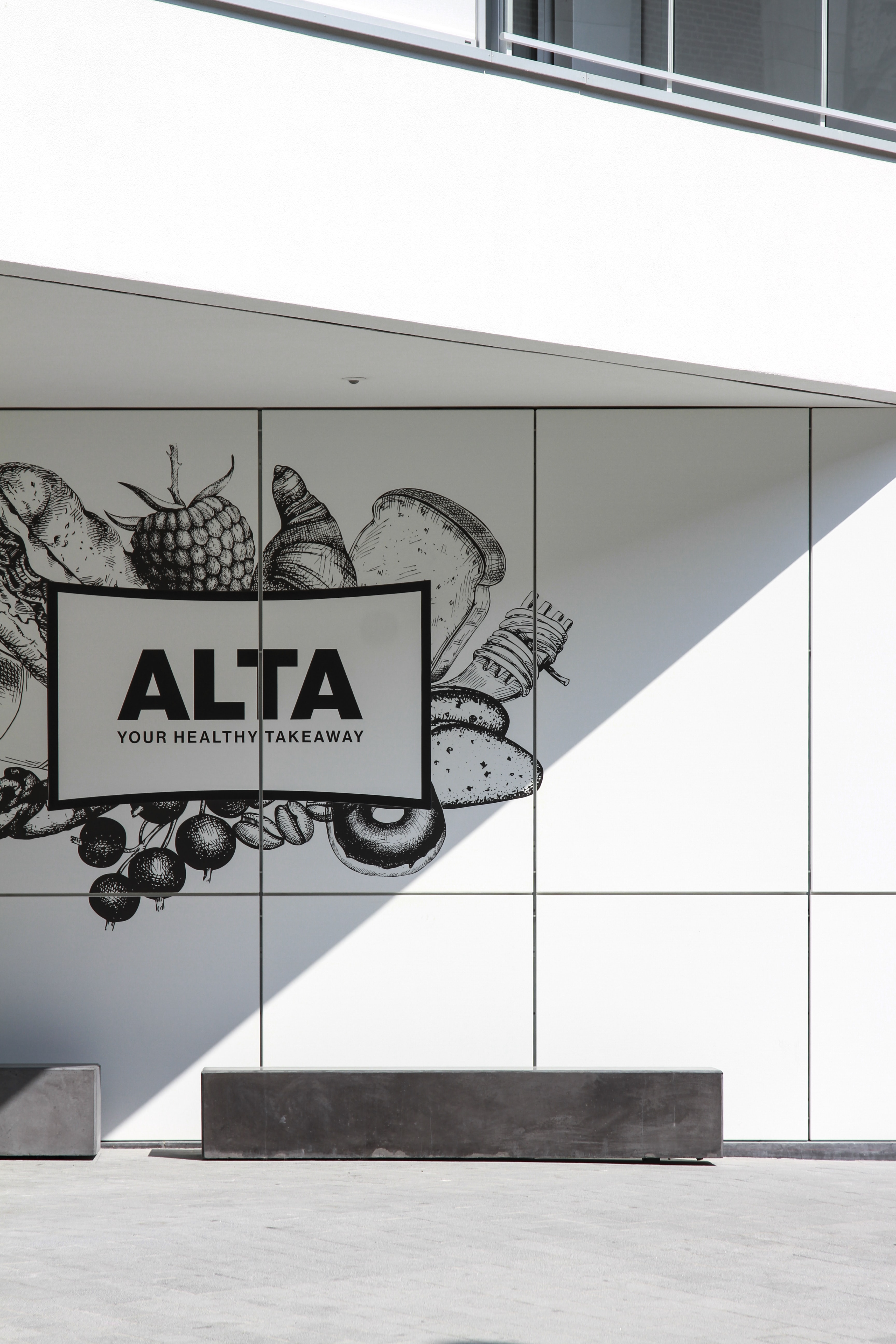 Alta wall sign