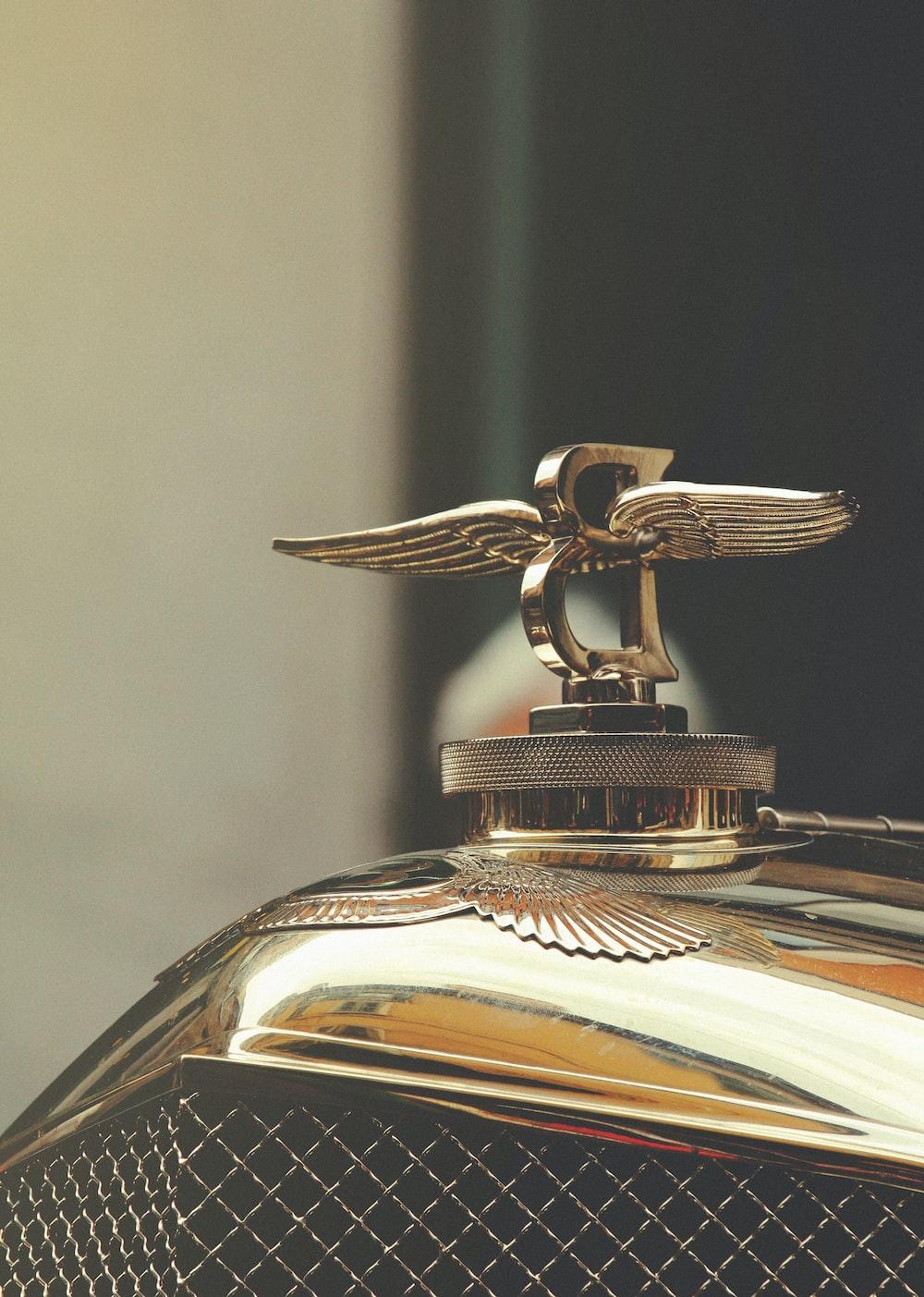 Bentley emblem on car hood