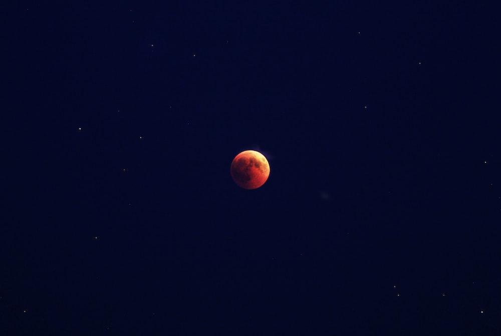 blood moon at night